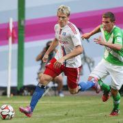 Telekom-Cup: Wolfsburg nach Sieg gegen HSV im Finale (Foto)