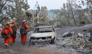 Waldbrände in Kalifornien zerstören mindestens elf Häuser (Foto)