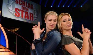 Larissa Marolt und Annica Hansen kämpfen bei Schlag den Star 2014 um 50.000 Euro. So sehen Sie die Spielshow im TV, Live-Stream und der Pro7-Mediathek. (Foto)