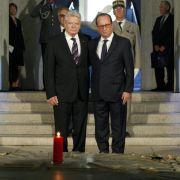 Gauck und Hollande erinnern an Ausbruch des 1. Weltkriegs (Foto)