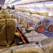 Flugzeug mit Ebola-infiziertem Spanier in Madrid gelandet (Foto)