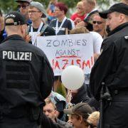 Proteste gegen Rechts in Thüringen und Sachsen-Anhalt (Foto)