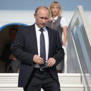 Putin auf der Krim: «Ukraine in mörderischem Bruderkrieg» (Foto)