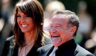Robin Williams und seine Ehefrau Susan Schneider. (Foto)