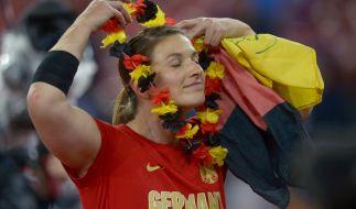 Linda Stahl gewinnt Bronze im Speerwurf bei der Leichtathletik-EM in Zürich. (Foto)