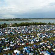 Das Highfield Camp aus luftiger Höhe.