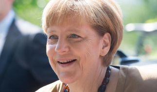 Die «echte» Bundeskanzlerin schüttete sich bisher noch kein Eiswasser über den Kopf. (Foto)