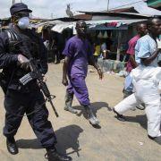 Unruhen nach Ebola-Ausgangssperre in Liberia (Foto)
