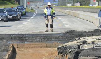 Autobahn A3 nach Bombensprengung wieder frei (Foto)