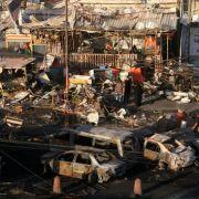 Bei einem Terroranschlag in Bagdad im Irak starben Anfang August 2014 mindestens 50 Menschen und mehr als 100 wurden schwer verletzt.