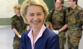 Nicht jeder findet Ursula von der Leyens Kriegswitz lustig. (Foto)