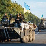 Das ukrainische Militär im Einsatz gegen die prorussischen Aktivisten in der Ostukraine.