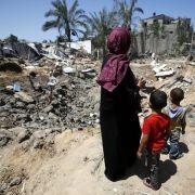 Nach den israelischen Luftangriffen stehen viele Familien im Gaza-Streifen vor dem Nichts.