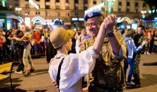 Ukraine feiert Unabhängigkeitstag mit Militärparade (Foto)