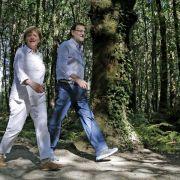 Merkel und Rajoy auf dem Jakobsweg (Foto)