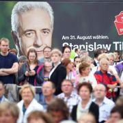 Wahlkampffinale in Sachsen (Foto)