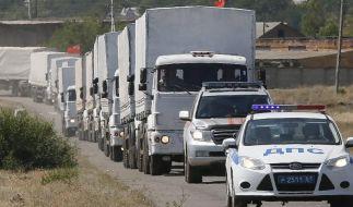 Zweiter russischer Konvoi an der ukrainischen Grenze (Foto)