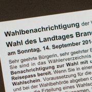 Endspurt im Wahlkampf in Brandenburg und Thüringen (Foto)
