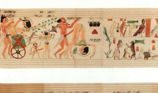 Bunt treiben es Ägypter vor mehr als 3000 auf dem erotischen Papyrus. (Foto)