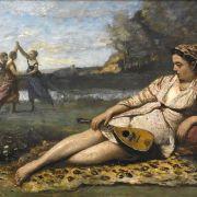 Der Mädchenreigen in Sparta, gemalt von einem französischen Landschaftsmaler.
