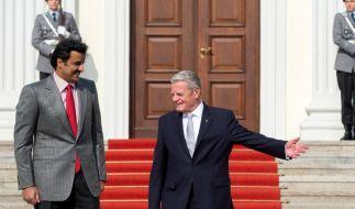 Gauck spricht mit Emir von Katar über Menschenrechte (Foto)