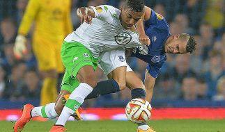 Die Wolfsburger hatten beim FC Everton einen schweren Stand. (Foto)