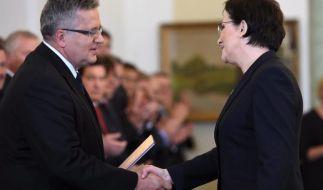 Ewa Kopacz als neue polnische Regierungschefin vereidigt (Foto)