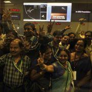 Indiens preiswerte Mission zum Mars erfolgreich (Foto)