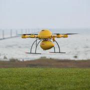 Post testet erstmals Paket-Drohne imAlltagsbetrieb (Foto)