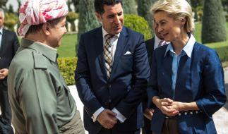 Verteidigungsministerin von der Leyen im Nordirak (Foto)