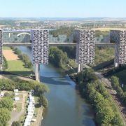 Bauprojekt auf Brücke spaltet Limburg (Foto)