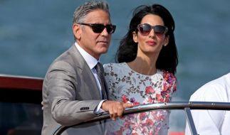 Der begehrteste Junggeselle der Welt hat sich getraut: George Clooney und Amal Alamuddin sind verheiratet. (Foto)