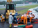 Bilder vom Unfall lassen erahnen, wie schwer die Verletzungen von Formel-1-Fahrer Jules Bianchi sein müssen. (Foto)