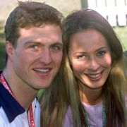 Süßes Paar: Ralf und Cora Schumacher.