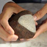 Ackerstein stellt sich als Meteorit heraus (Foto)