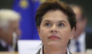 Designierte EU-Kommissarin Bratusek gibt auf (Foto)
