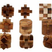 Edles Holz statt Plastik: Diese Geduldsspiele sind eine wahre Augenweide. (Foto)