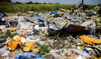 Überreste des Fluges MH17 der Malaysia Airlines. Der Flieger wurde im Juli 2014 über dem Kampfgebiet der Ostukraine abgeschossen. (Foto)