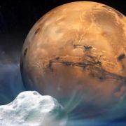 Flüchtige Begegnung zwischen Komet und Mars (Foto)