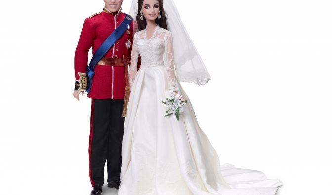 Zum ersten Hochzeitstag von Prinz William und Kate Middleton gab es ein Puppenset des Barbieherstellers in den Spielwarengeschäften. (Foto)
