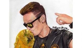 #DrawMesut: Mesut Özil freut sich über die Unterstützung seiner Fans. (Foto)