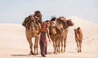 Robyn Davidson (Mia Wasikowska) begibt sich auf einen Selbstfindungstrip, allein, nur mit vier Kamelen durch die australische Wüste. (Foto)