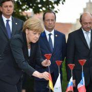 Merkel zu Gedenken an Ersten Weltkrieg in Belgien (Foto)