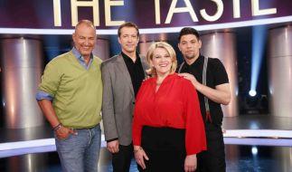 The Taste 2014 bei Sat.1: Frank Rosin, Alexander Herrmann, Lea Linster und Tim Mälzer sind in der Koch-Show nicht nur Juroren, sondern coachen die Kandidaten auch. (Foto)