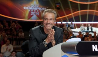 Der Quiz-Champion 2014 im ZDF: Schauspieler Hannes Jaenicke stellt sich den Fragen von Johannes B. Kerner auf dem Themengebiet «Natur». (Foto)