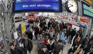 Ab Donnerstag wird bei der Bahn im Personenverkehr erneut gestreikt. (Foto)