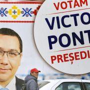 Prognosen: Ponta und Iohannis in der Stichwahl um Präsidentenamt (Foto)