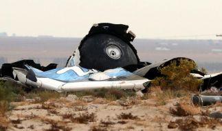 Absturz der «SpaceShipTwo»: Bremsvorrichtung zu früh gelöst? (Foto)