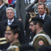 Gauck würdigt Luxemburgs Rolle in Europa (Foto)