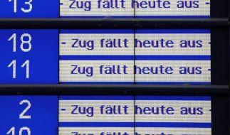 GDL kündigt Rekordstreik an: Der Personenverkehr ist ab Donnerstag betroffen. (Foto)